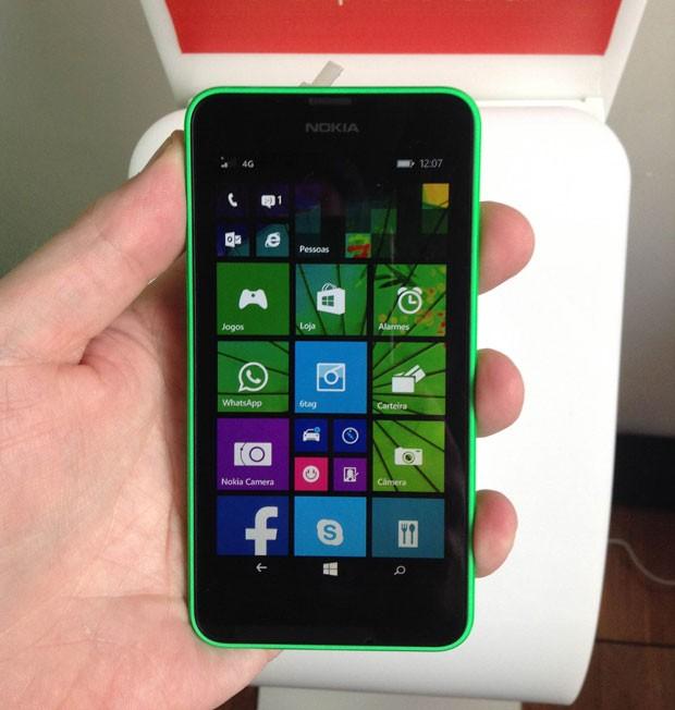 Lumia 630 (Foto: Gustavo Petró/G1)