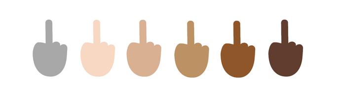 Emoji de dedo do meio chegou ao Windows (Foto: Reprodução/Emojipedia)