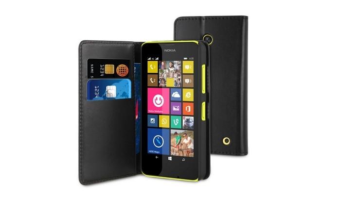 aa6d4ebf7d8 Wallet Folio, capa carteira para Lumia 630 (Foto: Divulgação/Muvit)