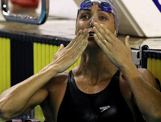 natação Fabiola Molina troféu maria lenk (Foto: Satiro Sodré / Agif)