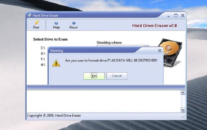 Mensagem de confirmação, informando que todos os dados serão destruídos (Foto: Reprodução/Ramon Cardoso)