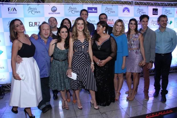 Elenco do filme Loucas pra casar  (Foto: Claudio Andrade e Thyago Andrade /  Photorionews)