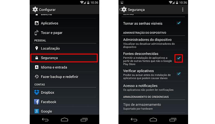 Habilite a instalação de apps de fontes desconhecidas (Foto: Reprodução/Paulo Alves)