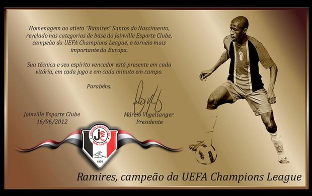 Placa Ramires (Foto: Divilgação / Joinville)