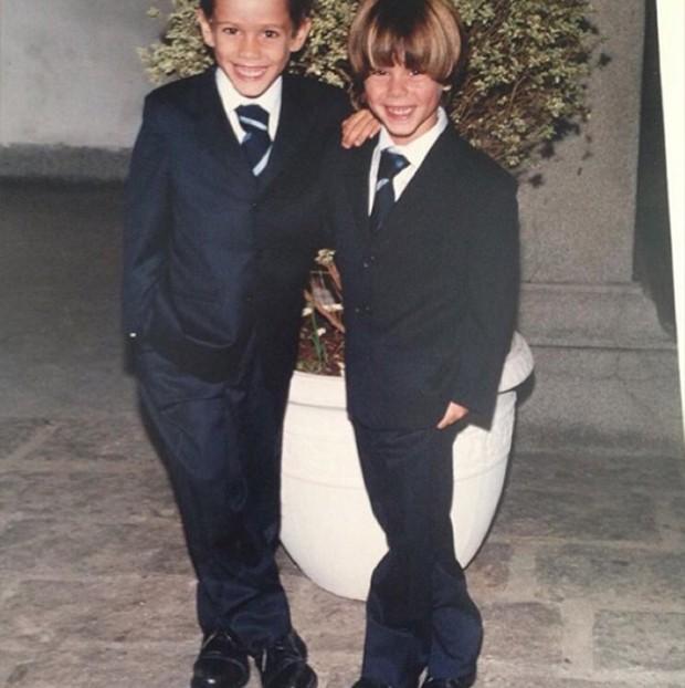 João Victor Marcari Oliva e Antonio Oliva (Foto: Reprodução/ Instagram)