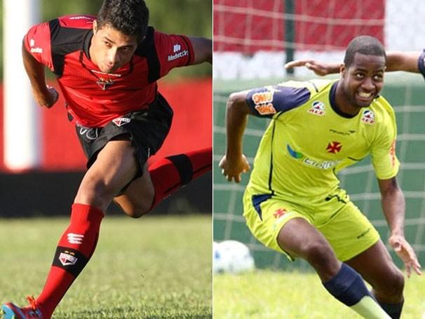 Atlético GO e Vasco se enfrentam neste sábado (Foto: Sebastião Nogueira/O Popular / Marcelo Sadio / Vasco.com.br)