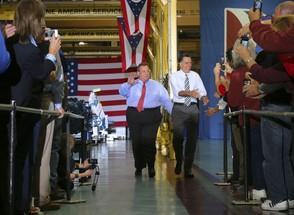 Obama e Romney - Pé na estrada