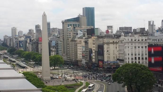 Brasil x Argentina Buenos Aires sem chuva (Foto: Márcio Iannacca / GloboEsporte.com)