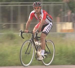 Alexandre Pinto, ciclista do Acre (Foto: Reprodução/TV Acre)