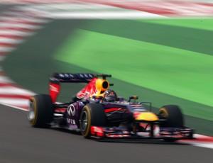Sebastian Vettel, GP da Índia, treino (Foto: Getty)