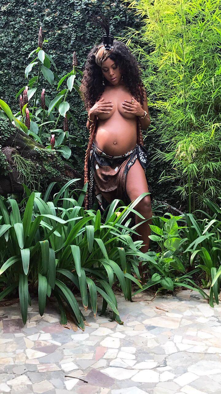 Negra Li: grávida de 5 meses! (Foto: Divulgação)