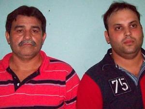José Geraldo Gois (à esq.) e Jessé Siqueira Gois eram donos do depósito onde mercadoria foi encontrada. (Foto: Divulgação/PC)