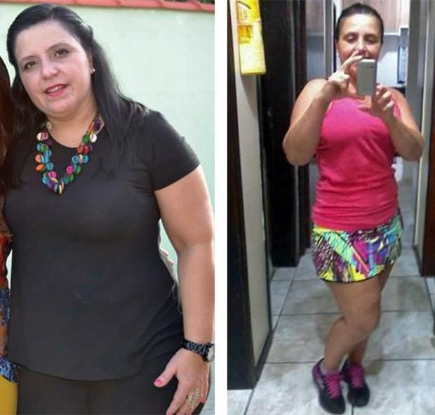 Sandra Orthey emagreceu 26 kg e pretende emagrecer mais 2 kg (Foto: Arquivo pessoal/Sandra Oorthey)