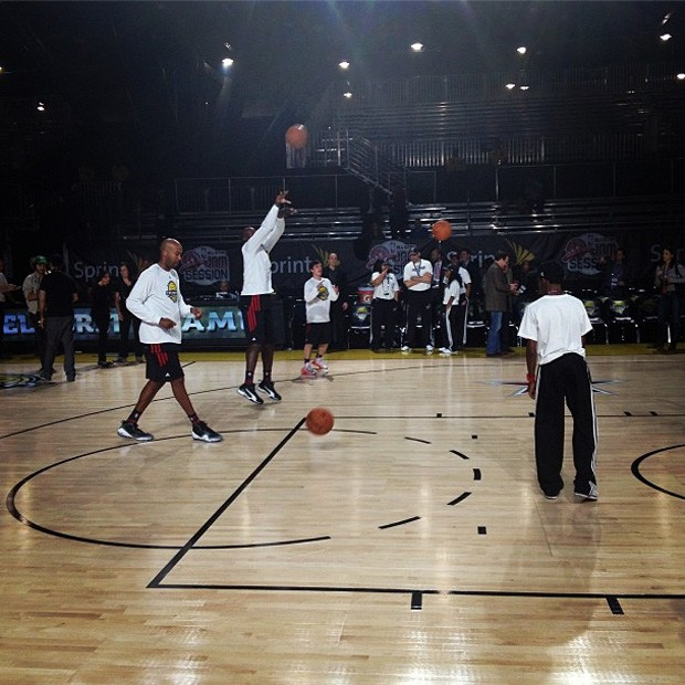 bolt no all-star game (Foto: Reprodução / Instagram)