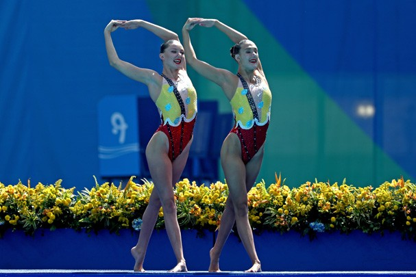 Katie Clark e Olivia Federici da Grã-Bretanha (Foto: Getty Images/Al Bello)