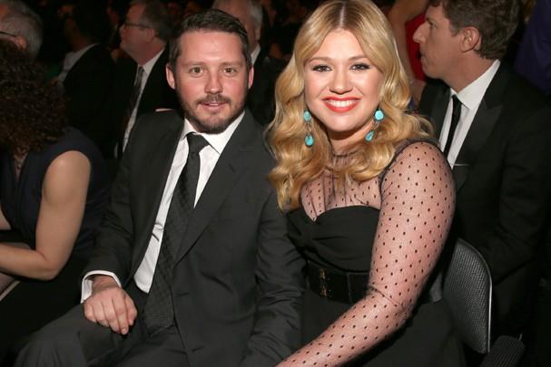 Kelly Clarkson e seu marido, Brandon Blackstock. (Foto: Getty Images)