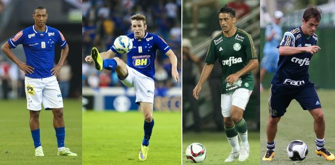Fabrício e Fabiano deixarão o Cruzeiro e irão para o Palmeiras, que cederá Robinho e Lucas (Foto: GloboEsporte.com)