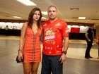 Ronaldo vai com a noiva, Paula Morais, à coletiva de camarote