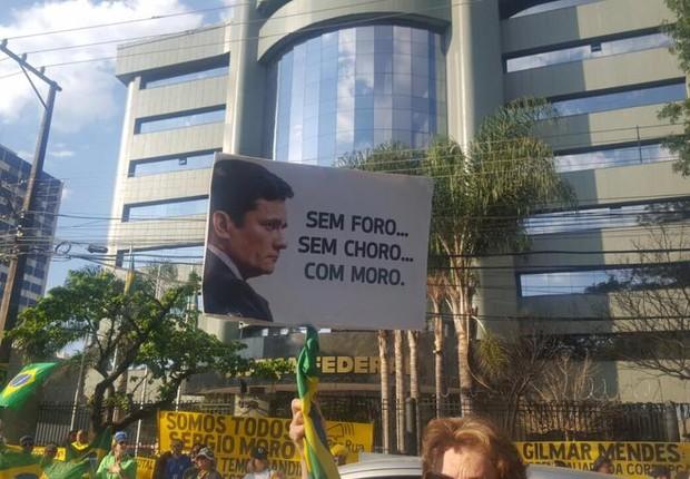 Manifestação em Curitiba neste domingo (Foto: Reprodução/Facebook/Vem Pra Rua)