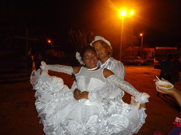 G1 Noiva De Quadrilha Do Ceará Fez O Próprio Vestido Mas Nunca
