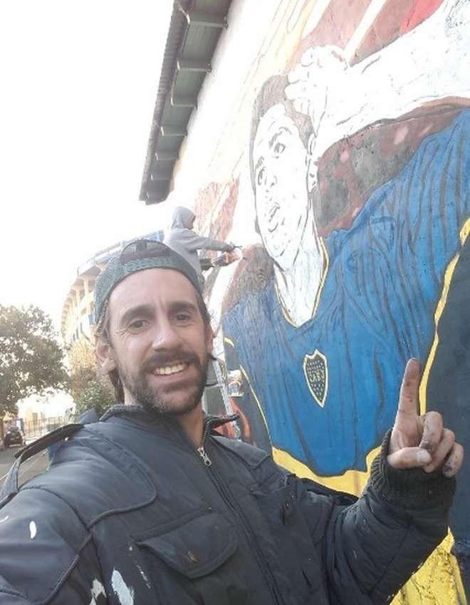 Mural Riquelme Bombonera