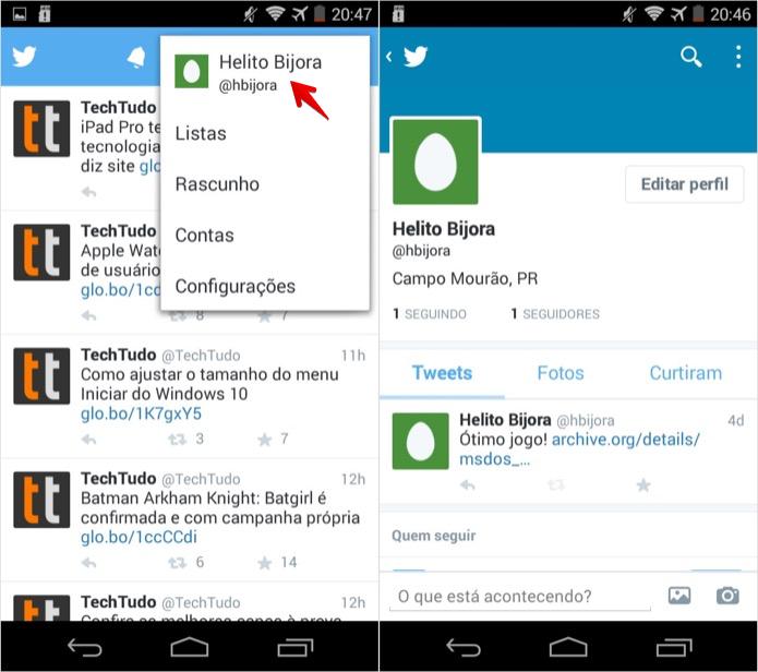 Abra o aplicativo e localize o tuíte que você quer apagar (Foto: Reprodução/Helito Bijora)