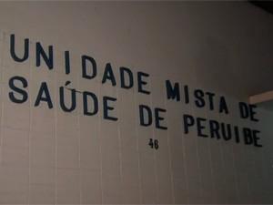 Hospital de Peruíbe, SP (Foto: Reprodução/TV Tribuna)