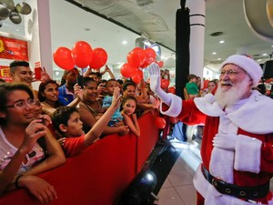 Papai Noel chega ao North Shopping  (Foto: Divulgação)