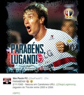 São Paulo twitter Lugano (Foto: Reprodução)