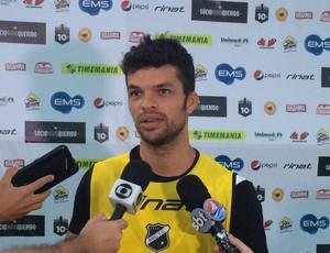 Márcio Passos - volante do ABC (Foto: Carlos Cruz/GloboEsporte.com)