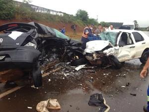 Veículo com placas de Cascavel bateu de frente com carro de Maringá (Foto: Arquivo pessoal/Rafael Gallo Carnelos)