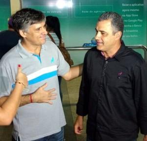 Sérgio Serra e Marcelo Chamusca Paysandu (Foto: Pedro Cruz)