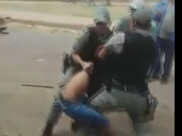 Tumulto durante abordagem terminou com a morte do PM (Foto: Reprodução)