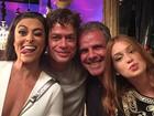 Fábio Assunção se diverte em gravação de 'Totalmente Demais'