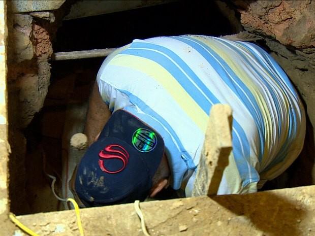 Grupo cavou túnel de seis metros  (Foto: Daniela Branches/TV Amazonas)