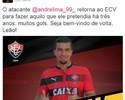 Está confirmado: Vitória anuncia contratação do atacante André Lima