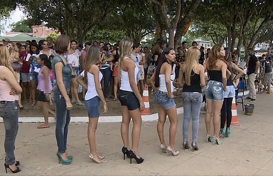 Seletiva da Menina Fantástica, em Manaus (Foto: Bom dia Amazônia)