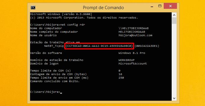 Anote o código de identificação do adaptador (Foto: Reprodução/Helito Bijora)