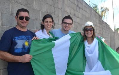 chegada nigéria ao hotel em Cuiabá  (Foto: Amanda Kestelman)
