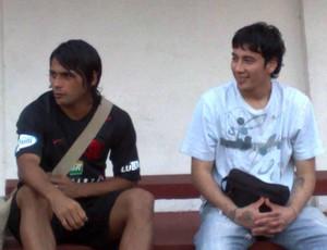 Sambueza e Maxi Biancucchi Flamengo (Foto: Globoesporte.com)