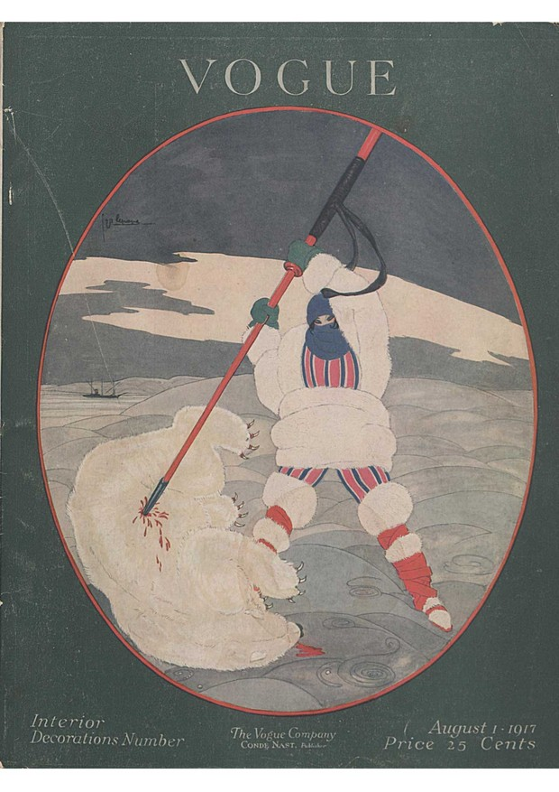 A George Lepape cover illustration for Vogue, August 1917 (Foto: THE CONDÉ NAST ARCHIVE)