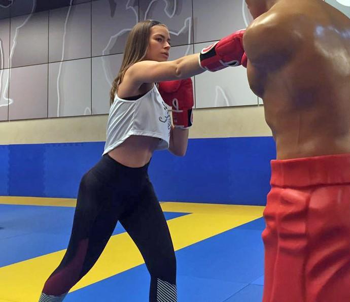 Renata Longaray diz que os treinos são intensos e já vê resultados (Foto: Arquivo Pessoal)