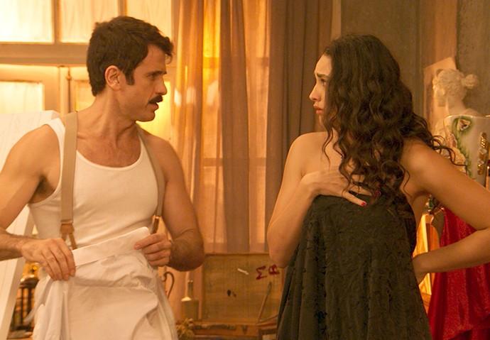 Ernesto chama Filomena de 'dura como uma estátua malfeita' (Foto: TV Globo)