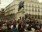 Mais de 50 mil manifestantes tomam as ruas em protesto na Espanha