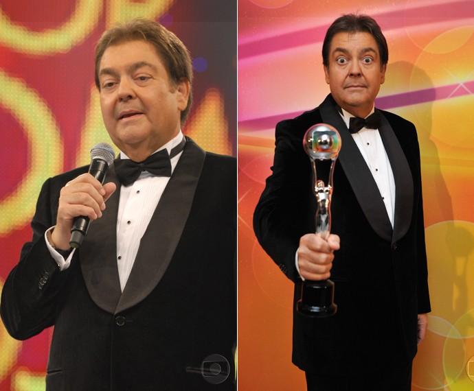 No Melhores do Ano de 2011, Faustão usou preto na telinha da Globo (Foto: Cedoc / TV Globo)