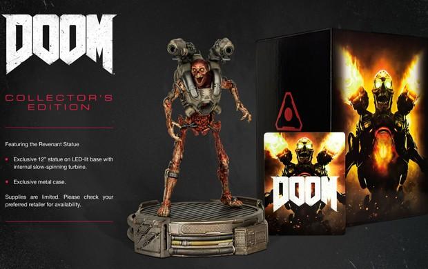 Edição de colecionador de 'Doom' vem com estátua de 12 polegadas do demônio Revenant (Foto: Divulgação/Bethesda)