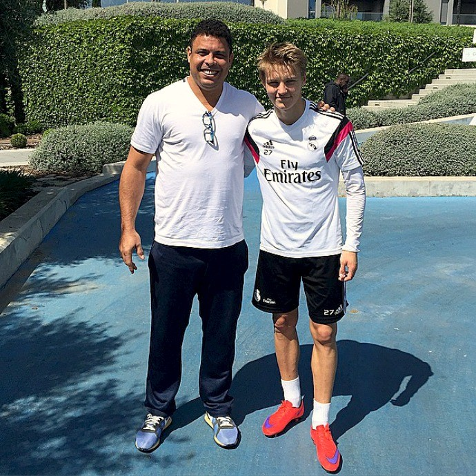 Odegaard e Ronaldo, Real Madrid