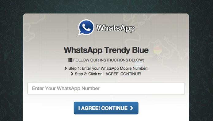 Golpe do WhatsApp azul que rouba dados (Foto: Reprodução)