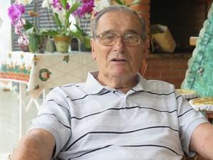 Frederico Fischer, 98 anos, fala sobre esporte e saúde (Foto: Orion Pires / G1)