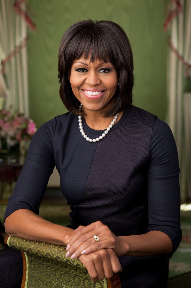 Nova foto oficial de Michelle Obama (Foto: Casa Branca)